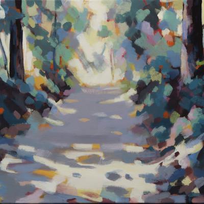 Waldweg im Licht