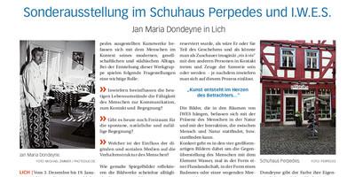 Gießener Zeitung:<br/>Sonderausstellung im Schuhhaus Perpedes und I.W.E.S.